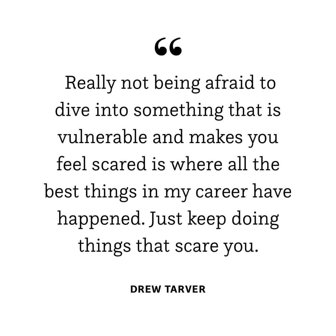 Don't let the fear win. 👊 @drewtarver