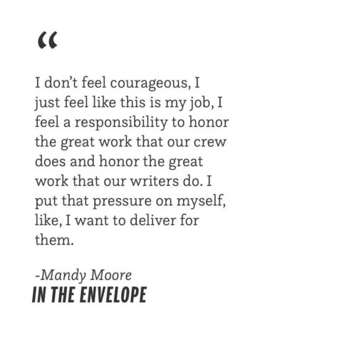 """Always honor the work. 💥 Catch up on all things @mandymooremm on our podcast """"In the Envelope,"""" link…"""